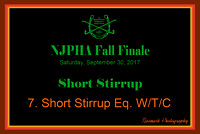 09/30/17 07. SHORT STIRRUP EQ. W/T/C