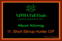 09/30/17 11. SHORT STIRRUP HUNTER O/F