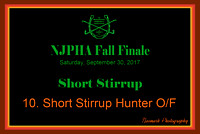 09/30/17 10. SHORT STIRRUP HUNTER O/F
